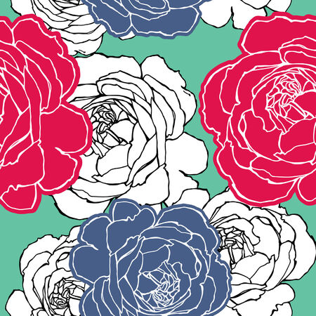 Elegance Seamless pattern with flowers roses, vector floral illustration in vintage style Stock Vector - 24896357
