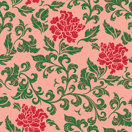 Elegance Seamless pattern with flowers roses, vector floral illustration in vintage style Stock Vector - 24895166