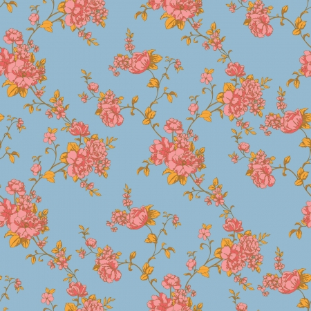 Elegance Seamless pattern with flowers roses, vector floral illustration in vintage style Stock Vector - 24895171