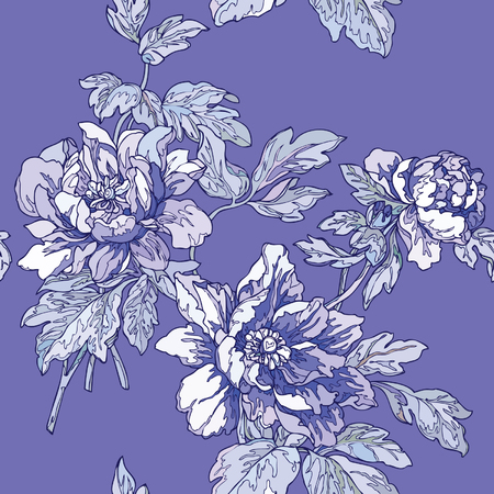 Elegance Seamless pattern with flowers roses, vector floral illustration in vintage style Stock Vector - 24895334