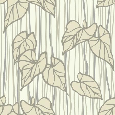 葉飾り, ビンテージ スタイルのベクトル花のイラストとエレガンスのシームレスなパターン