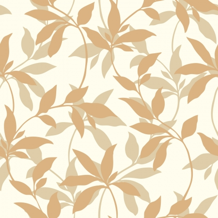 Elegance Seamless pattern with leaf ornament, vector floral illustration in vintage style Illustration