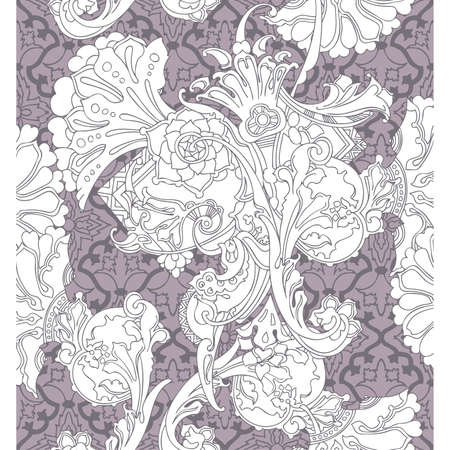 Elegance Seamless pattern with ornament, vector floral illustration in vintage style Stock Vector - 24893923