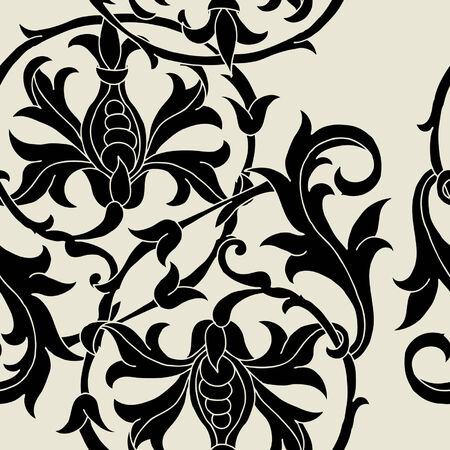 Elegance Seamless pattern with ornament, vector floral illustration in vintage style Stock Vector - 24894144