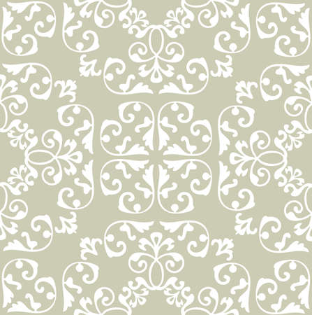 magnificence: Elegance Seamless pattern with ornament, vector floral illustration in vintage style