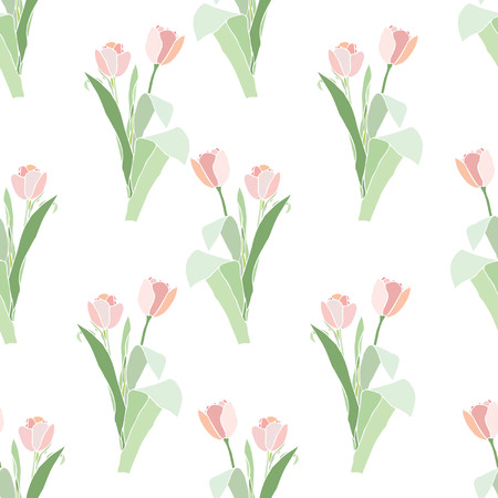 Elegance Seamless pattern with flowers tulips, vector floral illustration in vintage style Stock Vector - 24912944