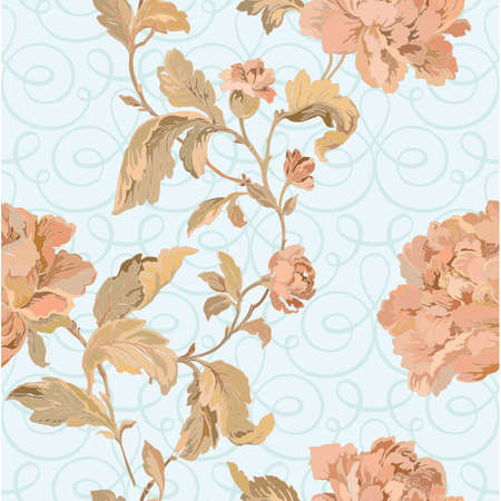Elegance Seamless pattern with flowers rose Stock Vector - 24912889