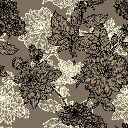 Elegance Seamless pattern with flowers, vector floral illustration in vintage style Stock Vector - 24935416