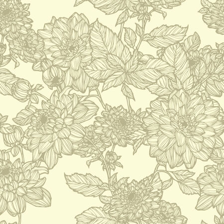 Elegance Seamless pattern with flowers, vector floral illustration in vintage style Stock Vector - 24924806