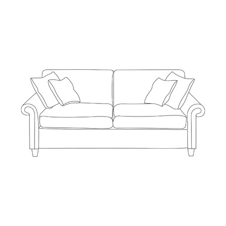 Illustration of the couches on a white background