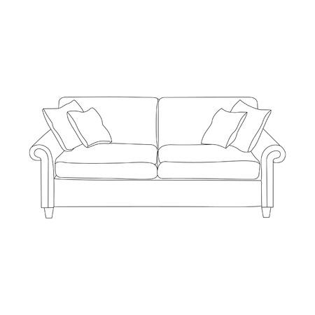 Illustrazione dei divani su uno sfondo bianco