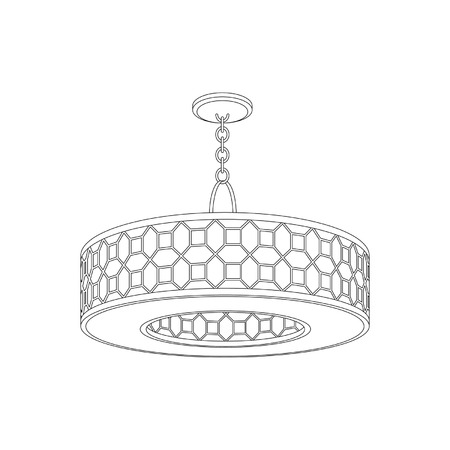 Luxury Chandelier on white background Vector