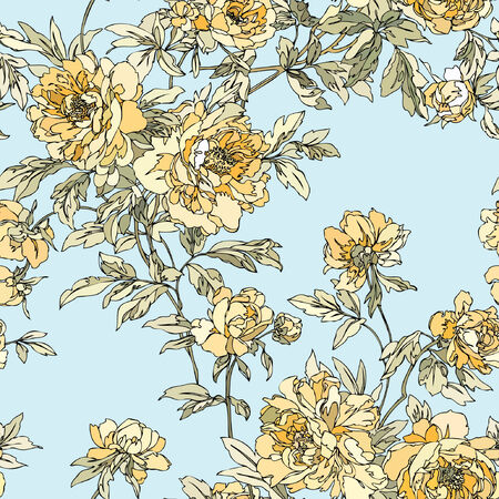 contrast floral: Elegance Seamless pattern with flowers rose