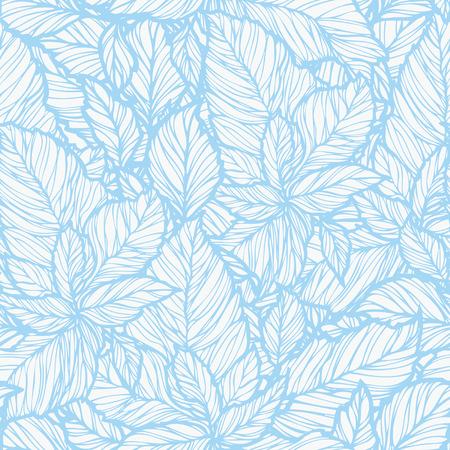 葉飾り, ビンテージ スタイルの花のベクトル イラストとエレガンスのシームレスなパターン
