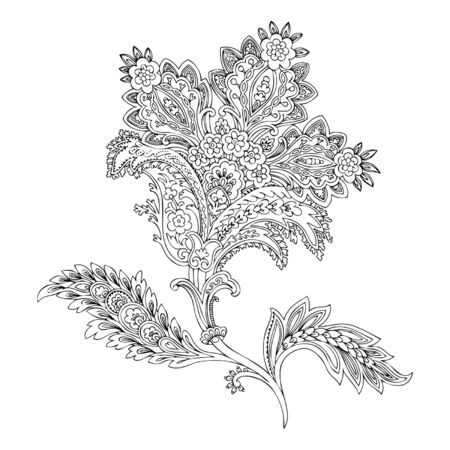 magnificence: Ornament, vector floral illustration in vintage style