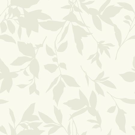 eleg�ncia: Padr�o Elegance Seamless com folha ornamento, ilustra��o floral vetor no estilo do vintage Ilustra��o