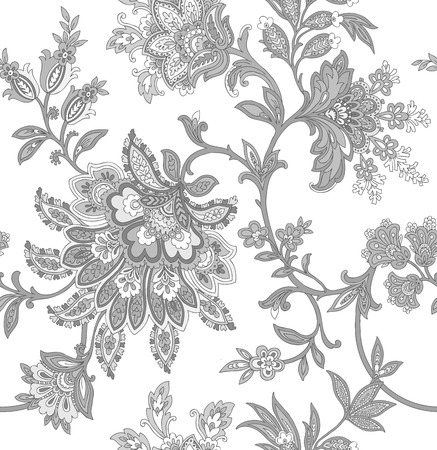 pink plumeria: Elegance Seamless pattern with ornament vector floral illustration in vintage style Illustration