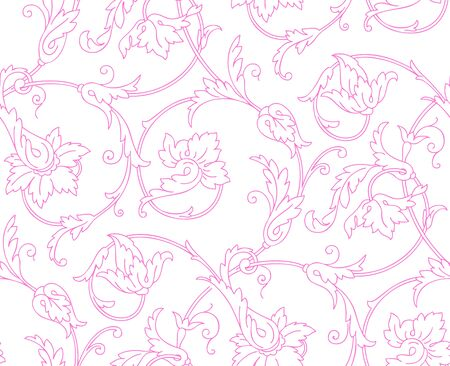 Elegant Seamless pattern with ornament vector floral illustration in vintage style Vector