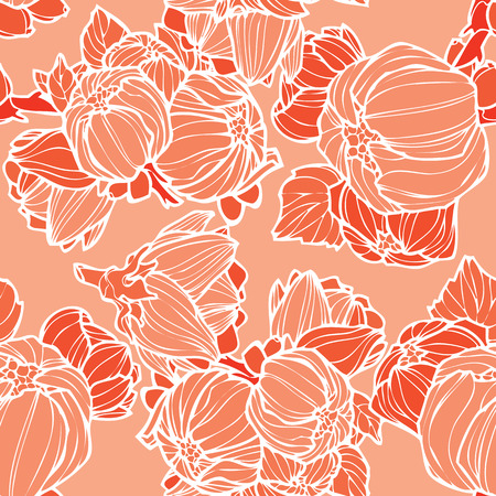 Elegance Seamless pattern with lupins vector floral illustration in vintage style