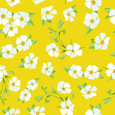 Elegance Seamless pattern with flowers vector floral illustration in vintage style Illustration