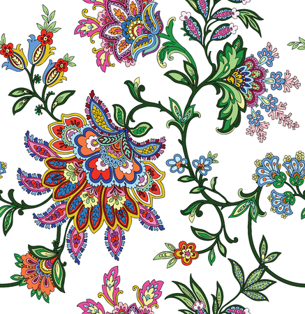Elegant Seamless pattern with ornament, vector floral illustration in vintage style 向量圖像