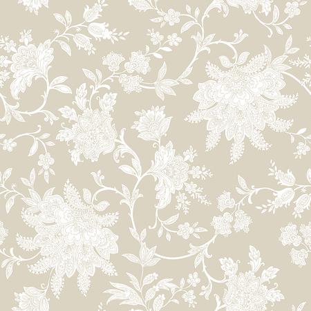 vintage: Elegance padrão sem emenda com flores rosas, ilustração vetorial floral no estilo do vintage Ilustração
