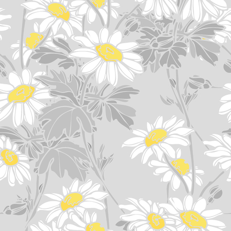 Pretty daisy seamless background Illustration
