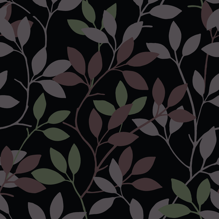 Elegance seamless leaves pattern