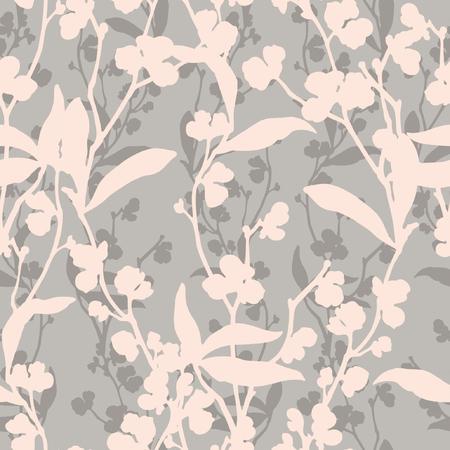 Nahtloses Blumenmuster. Blumenillustration Vektorgrafik