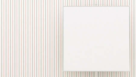 Striped banner from white wallpaper