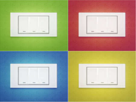 switch to the four walls in different colors