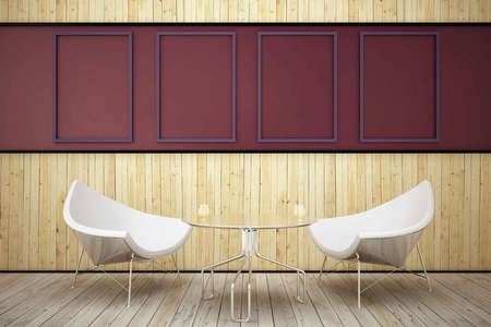 2 Armchair in the wooden room Stock Photo - 6332350