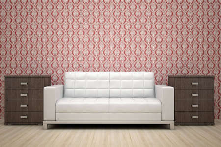 sofa surrounded by two cabinets Stock Photo - 6358733