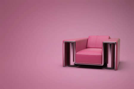 red-purple leather chair in a violet-red room Stock Photo - 7416154