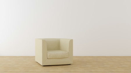 beige chair in a bright room