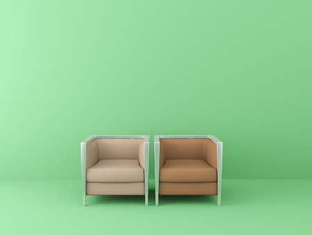 two chairs in the green room