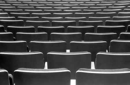 acomodador: Teatro vac�o despu�s de la clausura de la feria
