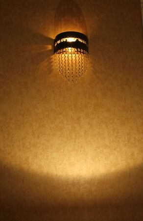 open wall  lamp in a living room photo