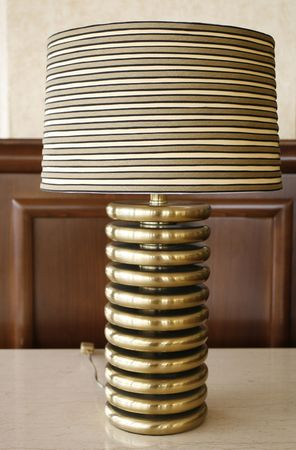 lamp stand: close standing lamp in living room in a hotel Stock Photo