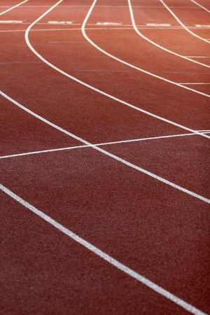 concurs: a part of athletics field with the lines on it Stock Photo