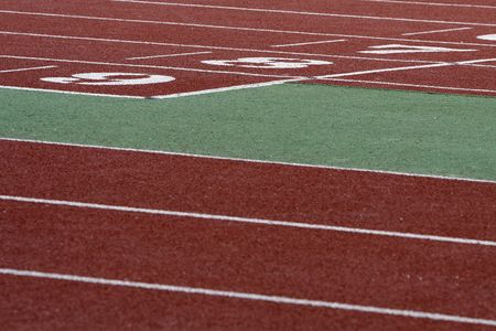concurs: a part of athletics field with the numbers on it