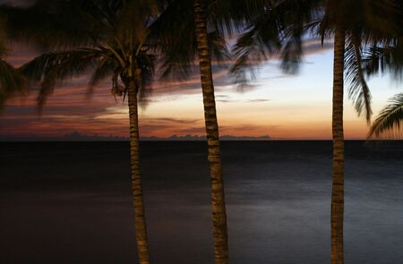 varadero: a  sunset in Varadero at Cuba