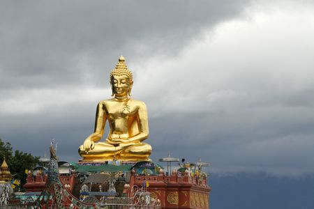 a big Buddha at north Thailand near Laos and Burma photo