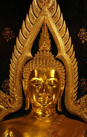 orison: a Buddha portrait  in temple at Thailand Stock Photo