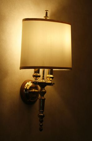 a switch on lamp in a hotel photo