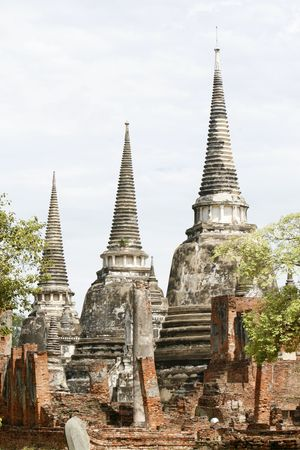 orison: a temple in the old capital city of Thailand Stock Photo