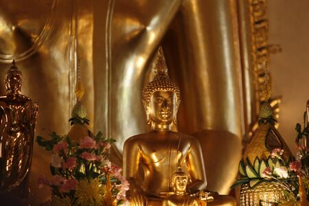 orison: a Buddha picture in temple at Thailand
