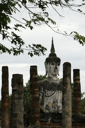 orison: a very big Buddha in the old capital city of Thailand
