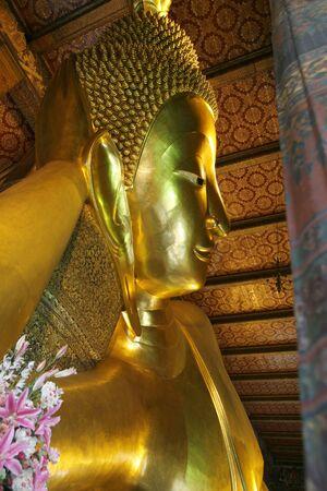 recline: a recline Buddha in a palace  at Bangkok