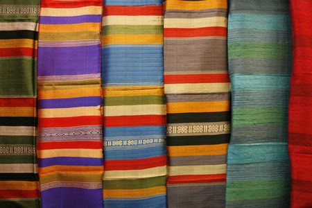 silk wool: a simple  background with many color shapes